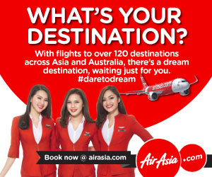 What's your destination? Book now with AirAsia