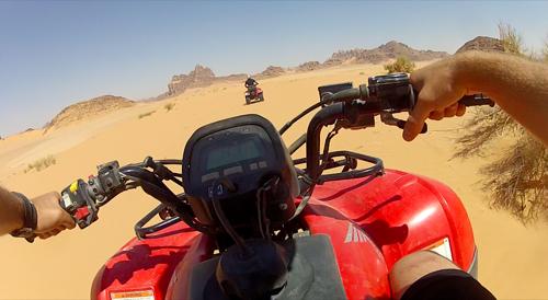 ATV Through Wadi Rum
