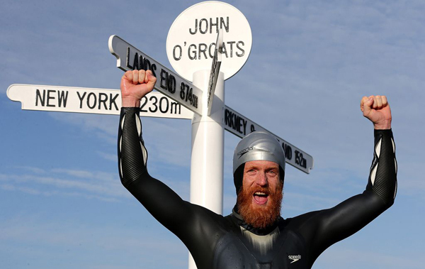 Sean Conway: the first person to swim the length of Great Britain