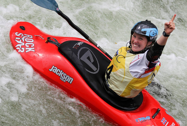 Claire winning double-gold at the 2013 World Championships (photo by Greenriver photography