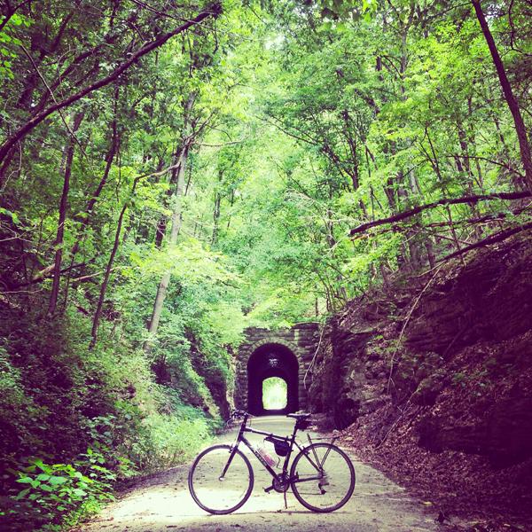 bike in woods