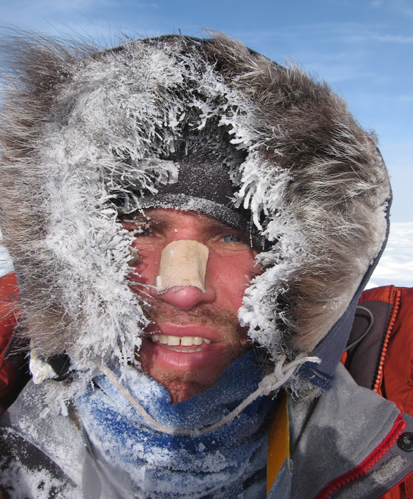 Kevin Biggar and cold day in Antarctica