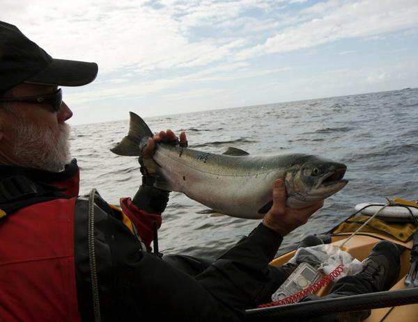 fishing and kayaking